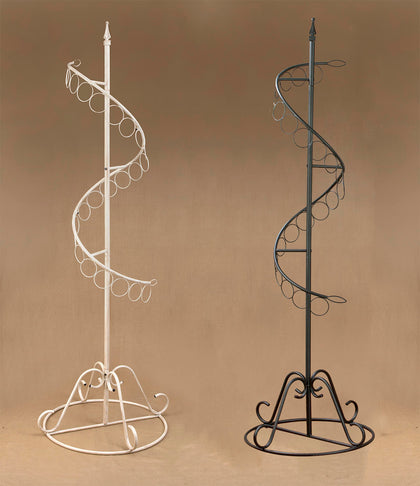 Spiral Scarf Display Rack - Black