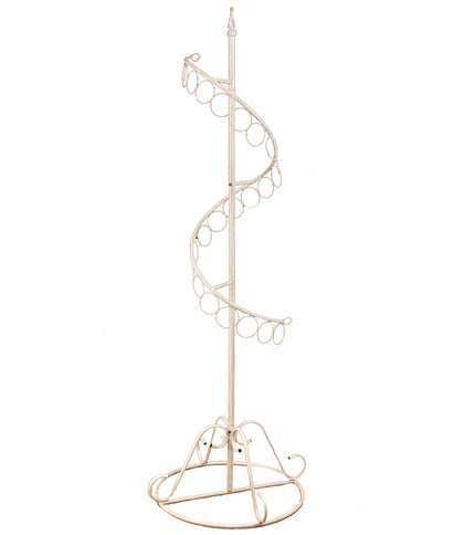 Spiral Scarf Display Rack - Cream