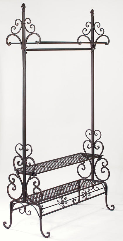 Garment Floor Rack - Dark Brown