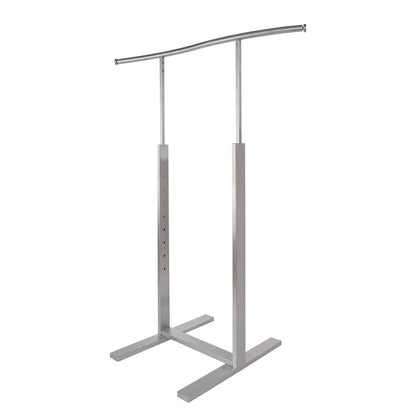 Bauhaus Adjustable Single Bar Merchandiser S-Shaped -  Satin Chrome