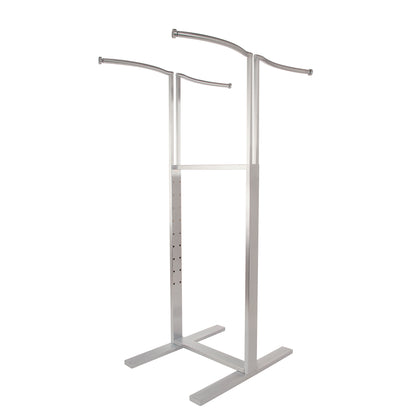 Bauhaus 4 Way Adjustable Curve Clothing Display - Satin Chrome