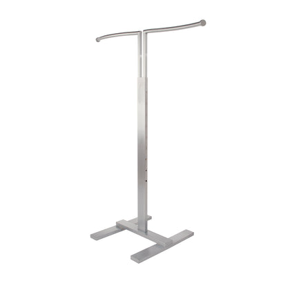 Bauhaus Two-Way Rack  Adjustable S Shaped Merchandiser - Satin Chrome