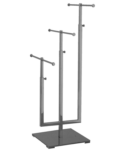 Triple Tier Adjustable Jewelry Stand - Chrome