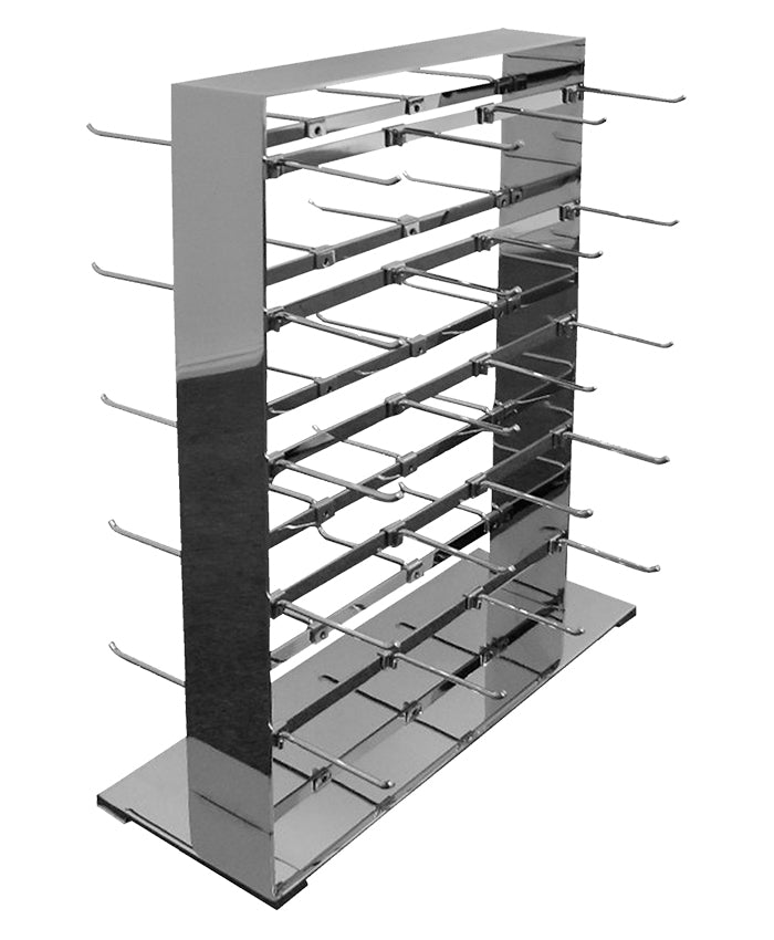 2-Way Jewelry Tower Display with 40 Hooks -  Chrome