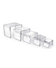 Set of 5 Square Riser Display - Clear Acrylic