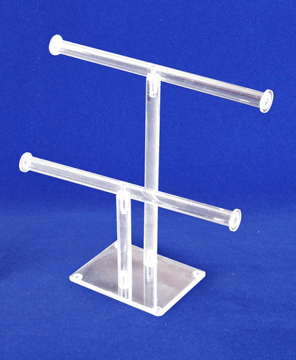 Double Bracelet Tubing Bar, Two Tiers, Made of Acrylic for Lasting Durability