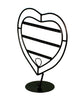 Antique Heart Style Earring Display - Black Finish