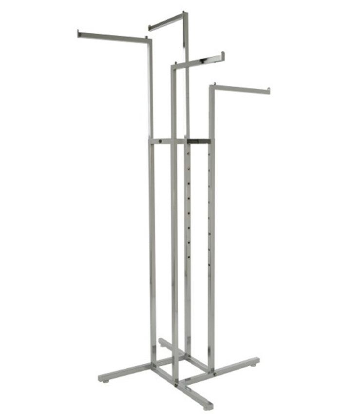 4-Way Garment Rack with Straight Arms