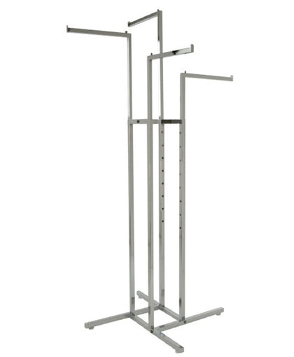 Chrome 4-Way Garment Rack with 1