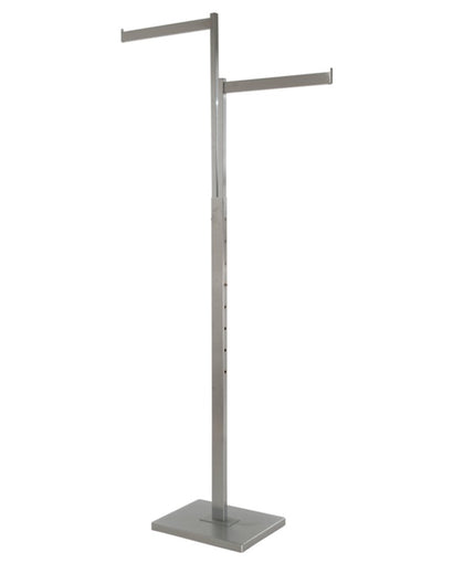 Satin Chrome 2-Way Garment Rack with 1
