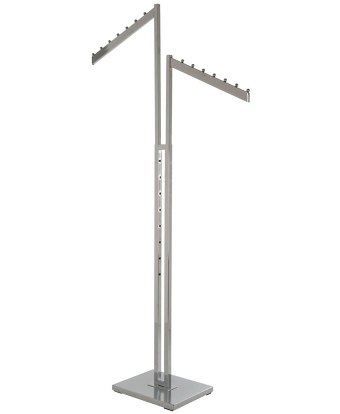 2-Way Garment Rack with 2-Slant Blade  Arms