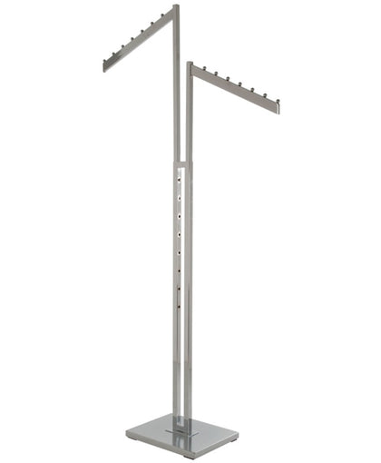 Chrome 2-Way Garment Rack with 2 - 16