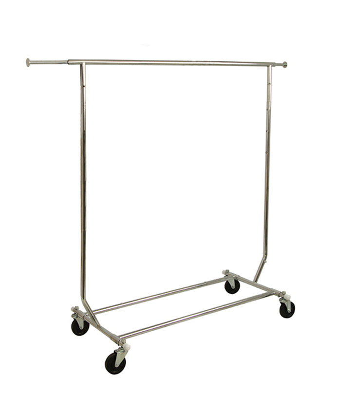 COLLAPSIBLE ROLLING RACK-  Chrome Finish