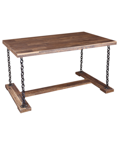 RUSTIC WOOD TOP TABLE