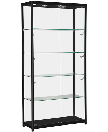 BLACK RECTANGULAR ALU FRAME DISPLAY CASE