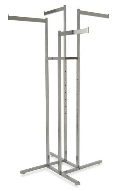 4-Way Garment Rack with Straight Blade Arms