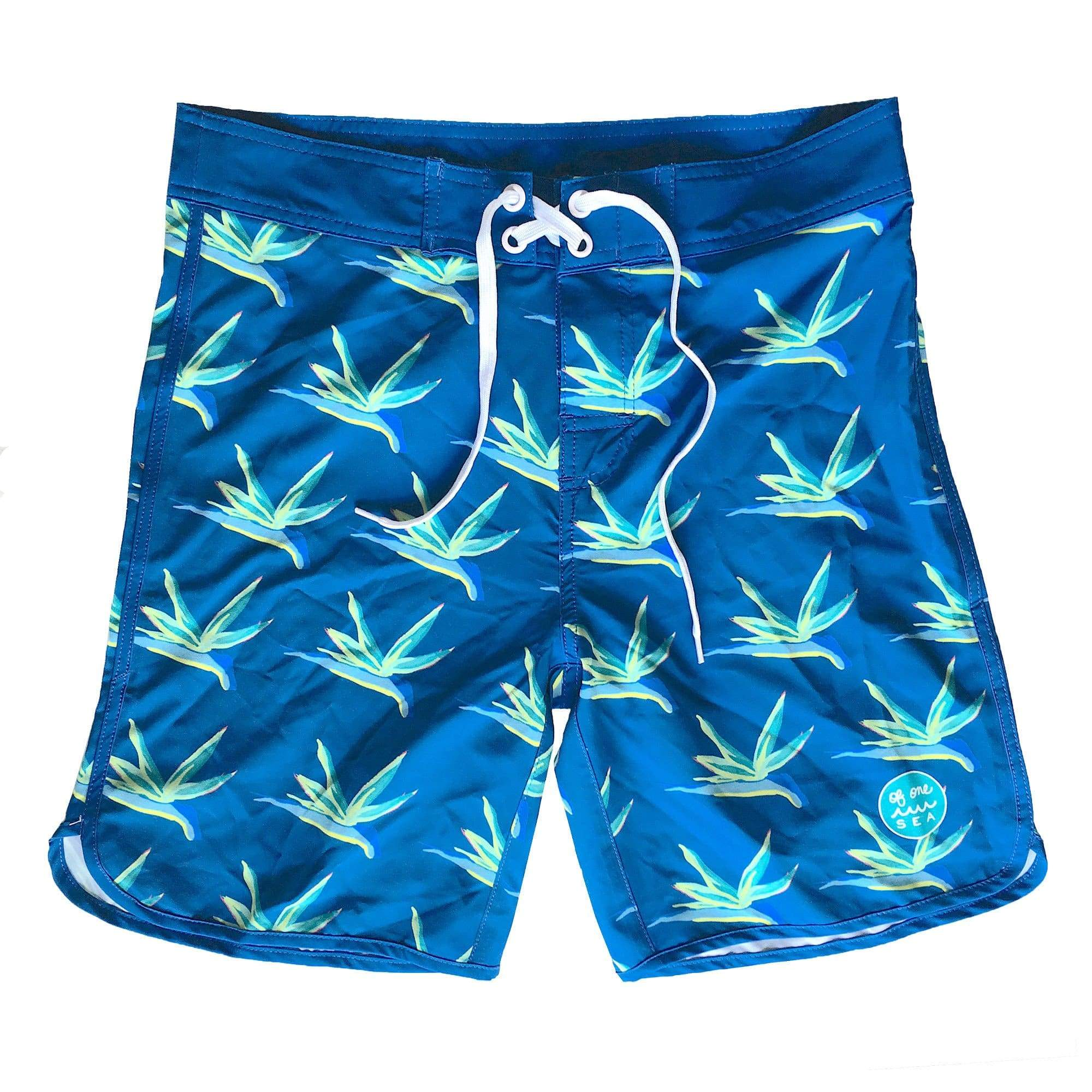 Men's Bird Of Paradise Retro Surf Trunks