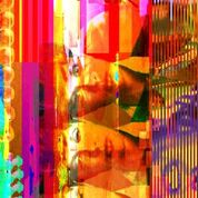 Kasumi, Glitched Assemblage with Fringe