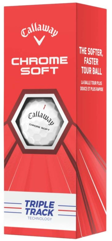 Callaway Chrome Soft Triple Track  3 Ball Pack