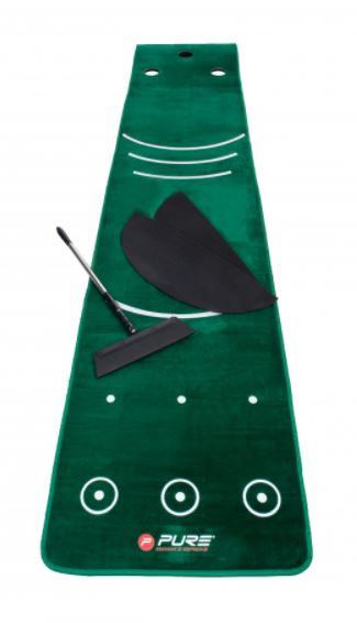 Pure2Improve Putting Mat 0,70m x 3.35m w Broom