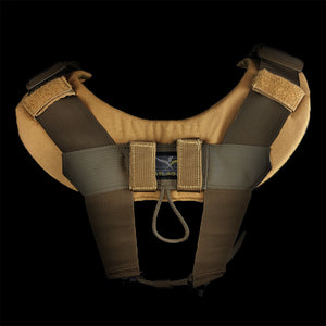 Rear shot of Padded Suspender Yoke in place, Shop yours today.