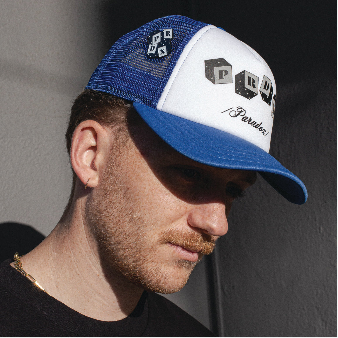 Blue Dice Trucker Hat