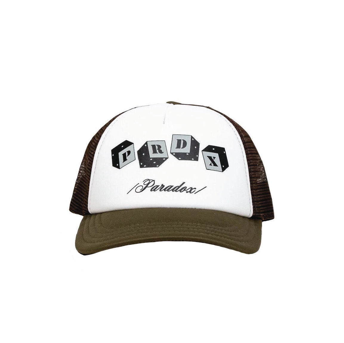 Olive Dice Trucker Hat