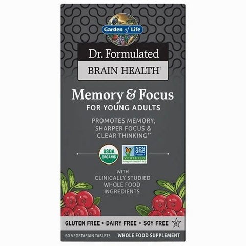 Dr. Formulated Brain Health Org. Memory/Focus (Young Adults) (aprendizaje, memoria, estado de alerta)