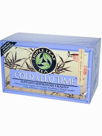 Cold & Flu Time, Triple Leaf Tea, Herbal Tea, 20 bolsitas de te.