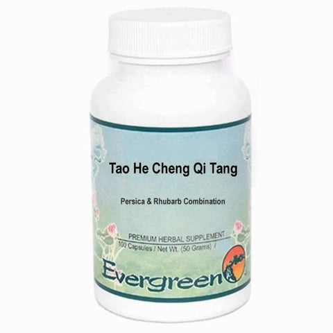 Tao He Cheng Qi Tang, 100 Cápsulas 500 mg, Evergreen. (Intratable dolor después de un trauma, amenorrea).