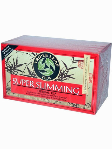Super Slimming Herbal, Triple Leaf Tea, Herbal Tea, 20 bolsitas de te.