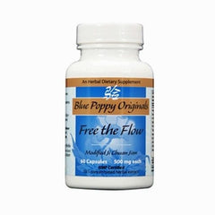 Free the Flow - Modified Ji Chuan Jian, 60 Cápsulas 500 mg, Blue Poppy Original (Constipación y sensación de frío).