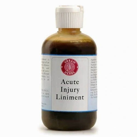 Acute Injury Liniment (4 onzas) by Urban Herbs, (Lesiones traumáticas, esguinces, dolor)
