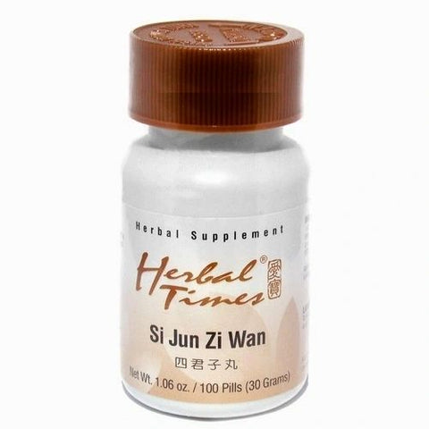Si Jun Zi Wan, 100 Píldoras 300 mg, Herbal Times. (Debilidad física, anemia y diarreas).