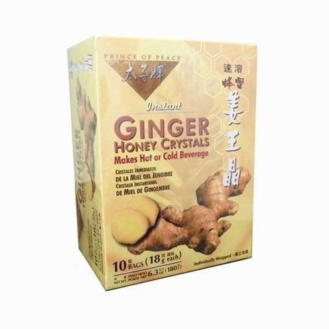 GINGER HONEY CRYSTALS BEVERAGE, 10 bolsitas de té.