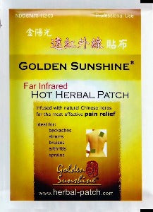 Far Infrared Hot Herbal Patch, 3 parches (4,3 x 5,9 pulgadas / 11 x 15 cm) by Golden Sunshine (Alivia dolores)