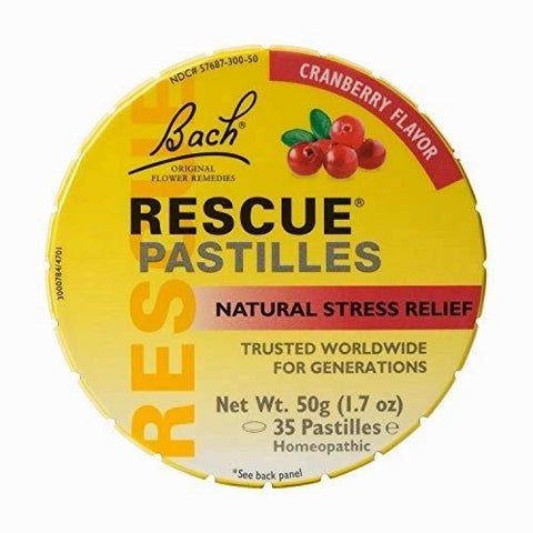 Bach Rescue Remedy Stress Relief Pastilles, Cranberry, Terapia floral (ansiedad)