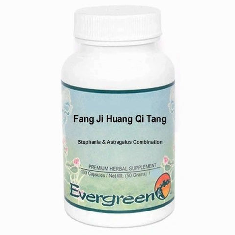 Fang Ji Huang Qi Tang, 100 Cápsulas 500 mg, Evergreen. (Stephania and Astragalus Decoction).