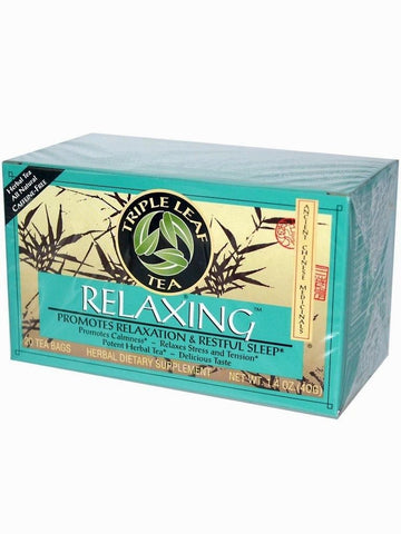 Relaxing Herbal Tea, Triple Leaf Tea, Herbal Tea, 20 bolsitas de te.