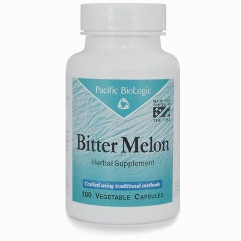 Bitter Melon, 100 Cápsulas x 500mg, Pacific BioLogic (Diabetes, Colesterol).