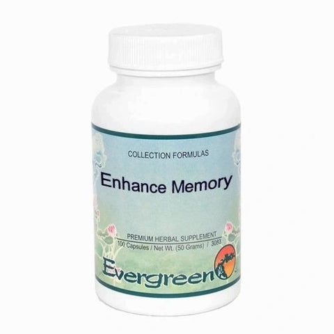 Enhance Memory, 100 Cápsulas x 500mg, Evergreen. (Aumenta la memoria)