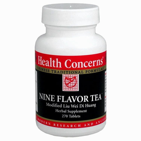 Nine Flavor Tea, 270 Tabletas 750 mg, Health Concerns. - Mod. Liu Wei Di Huang (Menospausia con calores nocturnos, infertilidad, diabetes).