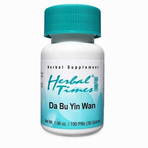 Da Bu Yin Wan, 100 Píldoras 300 mg,Herbal Times. (Sudoración nocturna, hot flash, hipertiroidismo, diabetes, menospausia).
