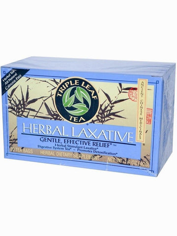 Herbal Laxative Tea, Triple Leaf Tea, Herbal Tea, 20 bolsitas de te.