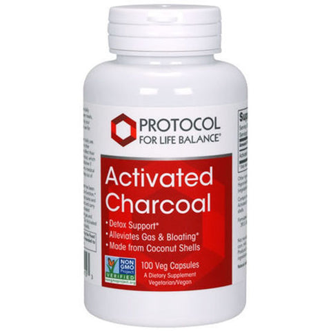 Activated Charcoal, 90 caps by Protocol For Life Balance (digestivo, elimina gases)