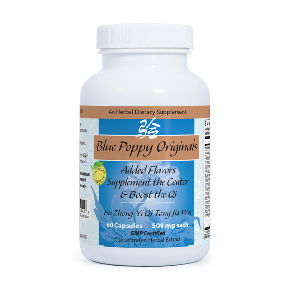 Added Flavors Supplement the Center & Boost the Qi, 60 Cápsulas 500 mg, Blue Poppy Original (fatiga crónica, infertilidad).