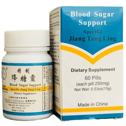 Jiang Tang Ling (Blood Sugar Support) 60 cápsulas x 250 mg (Diabetes Mellitus tipo II).