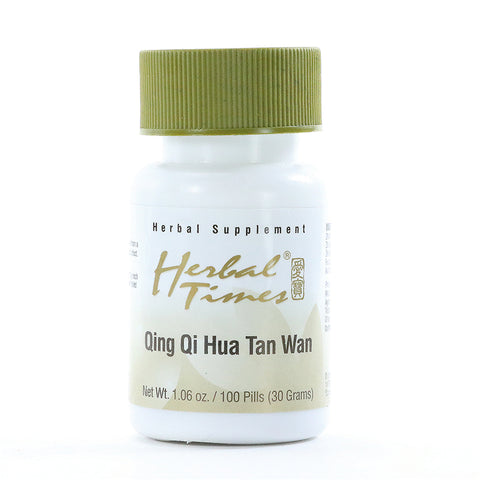 Qing Qi Hua Tan Wan, 100 Píldoras 300 mg, Herbal Times. (Clear the Qi and Transform Phlegm Pill).