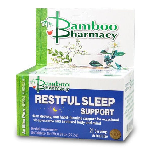 Restful Sleep Support (An Mien Pian), 84 tabletas, Mayway Bamboo Pharmacy (Insomnio)