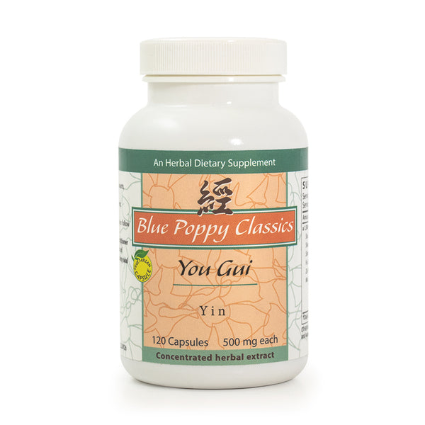 You Gui Yin, 120 Cápsulas 500 mg, Blue Poppy Classics (Impotencia).